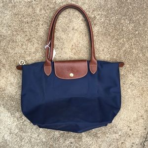 Navy Longchamp Le Pliage Purse